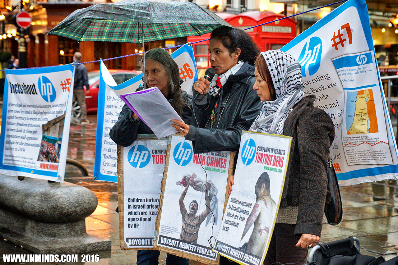 London protest exposes HP's complicity in Israel's war crimes